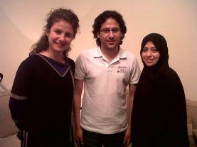LTR: Rima Maktabi (CNN's TV Presenter), Waleed Abulkhair, Samar Badawi.
