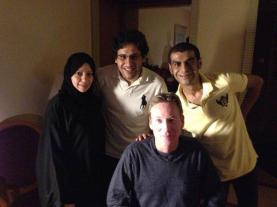 LTR: Samar Badawi, Waleed Abulkhair, Frank Gardner, Fahad Al-Fahad
